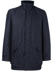 Fay Button And Zip Fastening Coat Blue