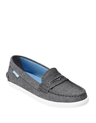 Cole Haan Pinch Weekender Canvas Loafers Black