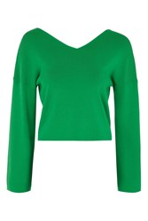 Topshop Clean Kimono Knitted Top Green