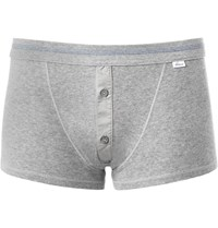 Schiesser Cotton Jersey Boxer Briefs Gray