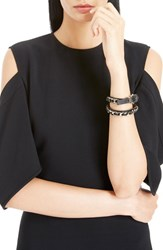 Women's Givenchy Leather And Chain Wrap Bracelet