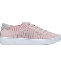 Michael Michael Kors Skyler Knit And Leather Trainers Pale Pink