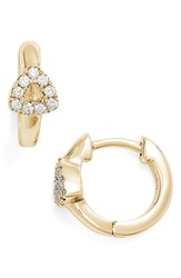 Dana Rebecca Women's Designs Open Triangle Hoop Earrings Yellow Gold