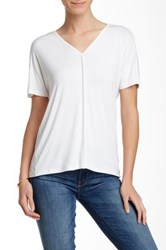 Fate V Neck Piped Tee White