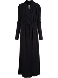Rick Owens Long Cardi Coat Black