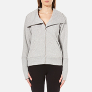 Ugg Women's Pauline Double Knit Fleece Cowl Neck Zip Through Jacket Seal Heather Grey