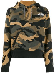 The North Face Camouflage Print Hoodie Green