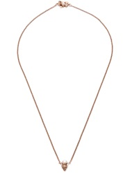 Eddie Borgo Pearl Single Cone Pendant Necklace Metallic
