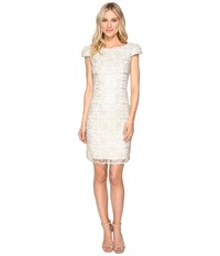 Rsvp Norris Sequin Lace Dress Ivory Gold Women's Dress