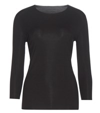 Wolford Pure Pullover Long Sleeve Top Black