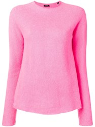 Aspesi High Boat Neck Sweater Pink And Purple