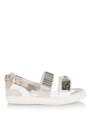 Toga Embellished Leather Sandals