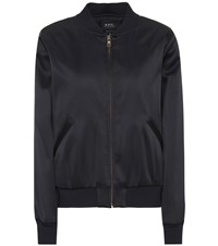 df4f8bbe317 A.P.C. Satin Bomber Jacket Blue