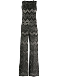 M Missoni Metallic Chevron Pattern Jumpsuit 60