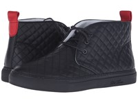 Del Toro Quilted Leather Chukka Sneaker Black Men's Shoes