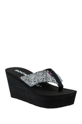 Rocket Dog Diver Platform Wedge Sandal Black
