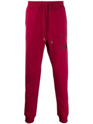 Love Moschino Logo Frame Track Pants Red