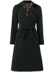 Dolce And Gabbana Sacred Heart Trench Coat Black
