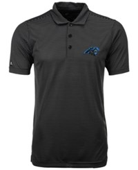 Antigua Men's Carolina Panthers Quest Polo Shirt Black White