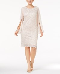 Connected Plus Size Angel Sleeve Sequined Dress Antique