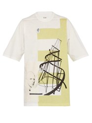 Rick Owens Drkshdw Tatlin's Tower Cotton Jersey T Shirt White