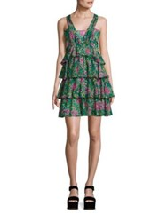 N 21 Cotton Printed Tiered Ruffle Dress Floral