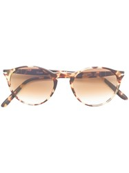 3aa840fb402c3 Persol Round Frame Sunglasses Brown
