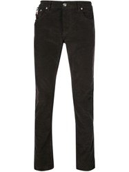 Isaia Slim Fit Trousers Black