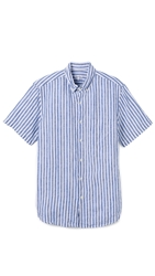 Steven Alan Single Needle Shirt Blue Stripe