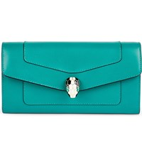 Bulgari Continental Leather Wallet Emerald Green