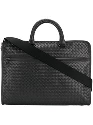 Bottega Veneta Woven Leather Computer Case Nappa Leather Black