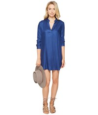 Bb Dakota Parley V Neck Shirtdress Indigo Women's Dress Blue