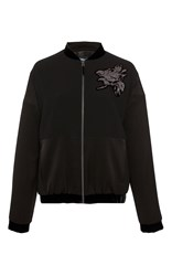 Paule Ka Bomber Jacket With Embroidery Black