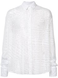 Y Project Sequin Shirt Men Polyester Sequin 48 White