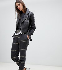 River Island Sweatpants With Slogan In Gray Gray