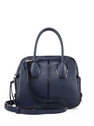 Tod's Miky Bauletto Mini Leather Satchel Dark Blue