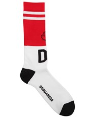 Dsquared D2 Logo Maple Leaf Cotton Blend Socks