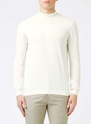 Topman Off White Mini Roll Neck Jumper Cream