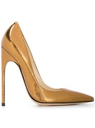 Brian Atwood Pointed Toe Pumps Metallic