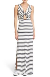 Amour Vert Women's 'Skyy' Tie Front Maxi Dress