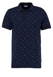 Jack And Jones Jorrodeo Slim Fit Polo Shirt Total Eclipse Blue