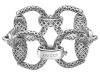 Gucci Horsebit Light Bracelet 17 Silver