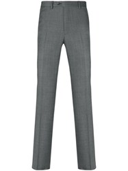 Brioni Tailored Trousers Men Cotton Polyester Cupro Virgin Wool 54 Grey