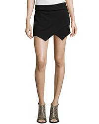 Casual Couture Asymmetric Textured Skort Black