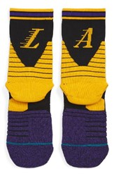 Stance Men's Nba On Court Lakers Logo Socks