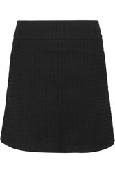 Victoria Beckham Broderie Anglaise Cotton Mini Skirt Black