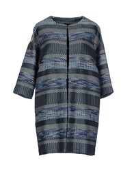 Pf Paola Frani Coats And Jackets Full Length Jackets Women Blue