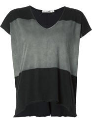 Rag And Bone V Neck Loose Fit T Shirt Black