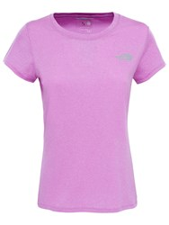 The North Face Reaxion Amp Crew Neck Training T Shirt Purple