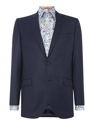 Simon Carter Sb2 Milled Jaspe Tailored Fit Jacket Navy